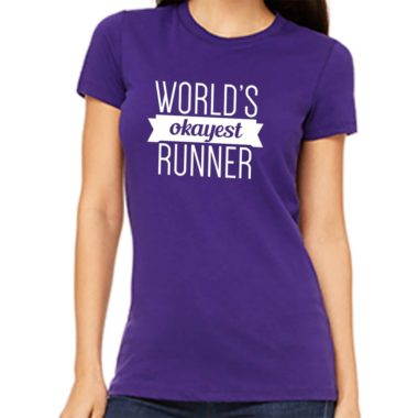Women's Purple Tee | Running Sayings | Ready Set Run Co