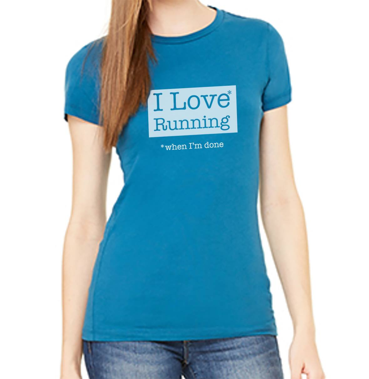 Women's Royal Blue Tee | Running Sayings | Ready Set Run Co